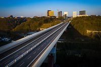 Coronavirus - Leere Plätze - Luxemburg - Lost City - Drone  - Rout Breck - Pont Rouge - Großherzogin-Charlotte-Brücke -   Foto: Pierre Matgé/Luxemburger Wort