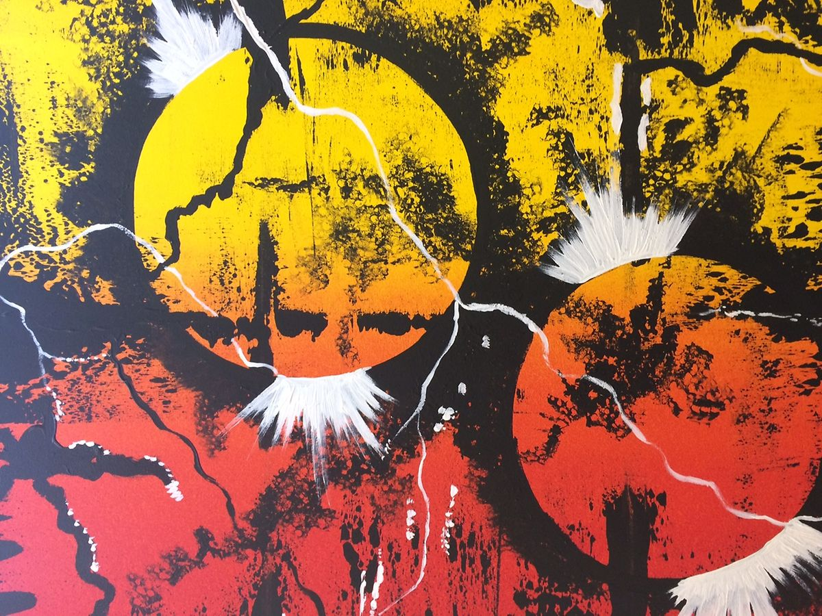 O quadro Ponta de Sol, da coleção Evolution, vai ser exposto em Lecce.