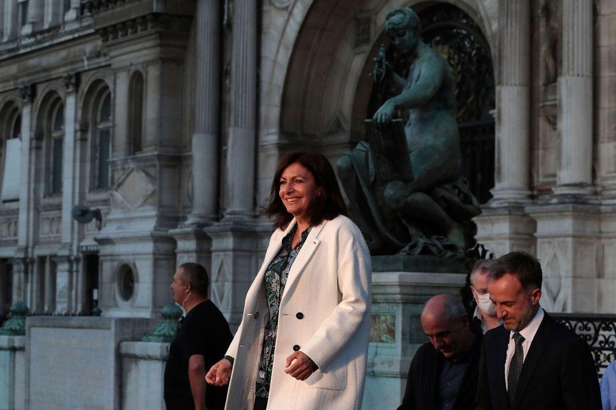 Anne Hidalgo eleita em Paris.