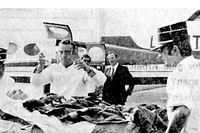 Der erste Flug der Luftambulanz: Im August 1971 holt der ACL eine verunglückte Frau aus Orléans zurück nach Luxemburg.