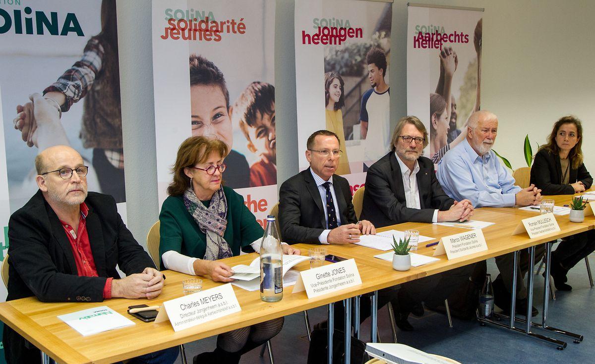 Marco Wagener (dritter von links) ist der Präsident der neu gegründeten Fondation Solina.