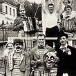 Kostümierte Karnevalisten bei der Remicher Kavalkade im Jahr 1954.