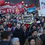 Milhares de manifestantes voltaram a protestar em França contra novo sistema de pensões