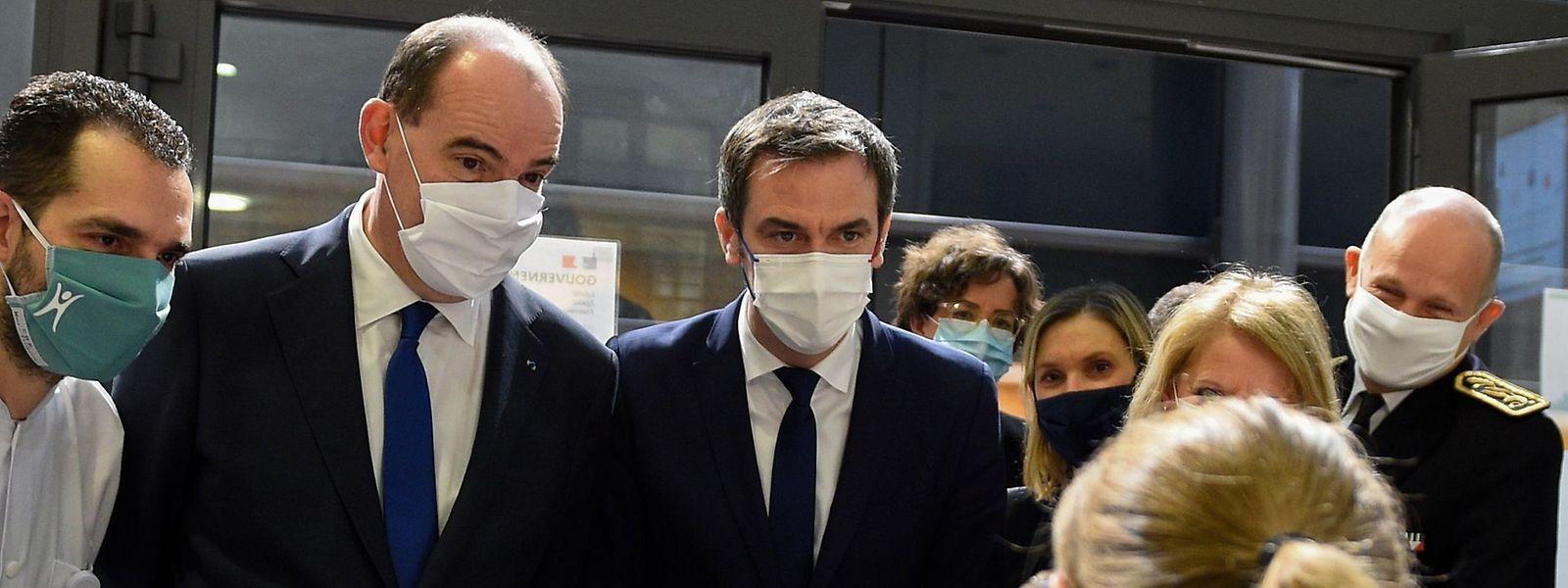 Olivier Véran a accompagné le Premier ministre Jean Castex en déplacement au CHR Metz-Thionville ce jeudi matin.