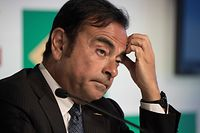 (FILES) This file photo taken on January 4, 2016 shows chairman, president and CEO of Nissan Motor, Carlos Ghosn, gesturing during a press conference at the company's Brazilian headquarters in downtown Rio de Janeiro. - Nissan chairman Carlos Ghosn was arrested in Tokyo on November 19, 2018 for financial misconduct, public broadcaster NHK and other Japanese media outlets reported. (Photo by VANDERLEI ALMEIDA / AFP)
