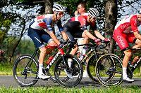 Tim Diederich (Team Snooze) und Alex Kirsch (Trek-Segafredo) - Radsport-Landesmeisterschaften 2021 - Straßenrennen - Foto: Serge Waldbillig