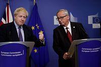 Deal in letzter Minute: Boris Johnson (l.) und Jean-Claude Juncker.