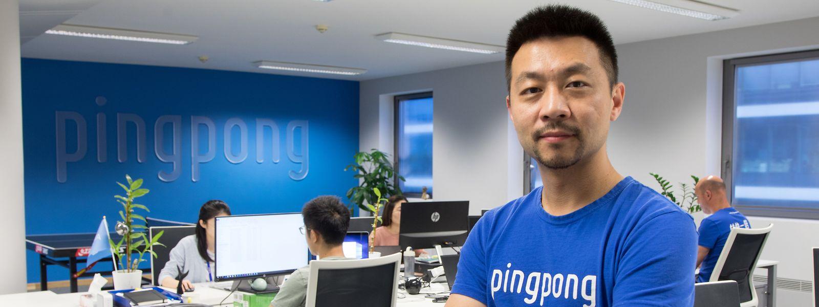 Lu Shuai, Chief Strategy Officer von PingPong Europe, will mehr luxemburgische und europäische Händler als Kunden gewinnen.