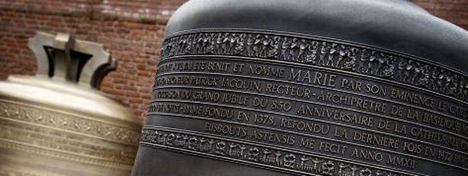"""""""Bourdon Marie"""", sechs Tonnen schwer, die Glocke, über die Großherzogin Maria Teresa die Patenschaft übernommen hat."""