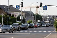 Lokales,  Hesperingen Stau in der route de Thionville, Gemeinde Hesperingen verlangen Umgehungsstrasse,  Foto: Anouk Antony/Luxemburger Wort