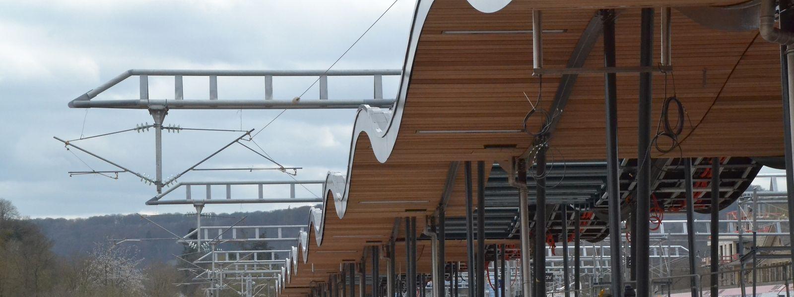 Kommenden Montag geht das neue Gleis am Ettelbrücker Bahnhof in Betrieb.