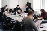 Lokales, CGDIS, Hotline Mitarbeiter, Coronavirus, Covid-19, Foto: Chris Karaba/Luxemburger Wort