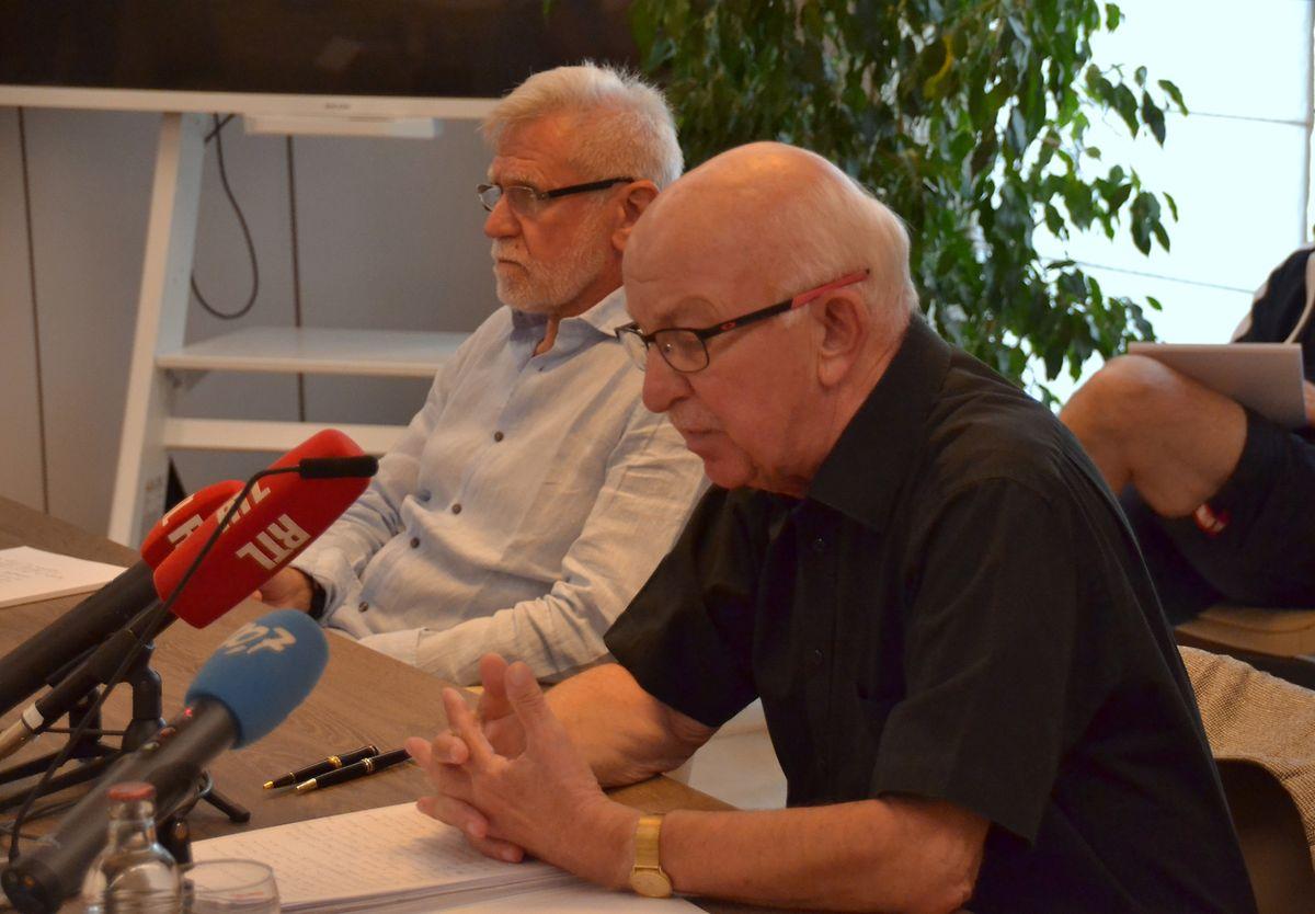 Die Bürgermeister aus Lorentzweiler (l.) und Steinsel wehren sich gegen die Creos-Pläne.