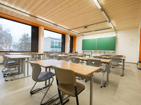 A classroom at Lycée Michel Lucius