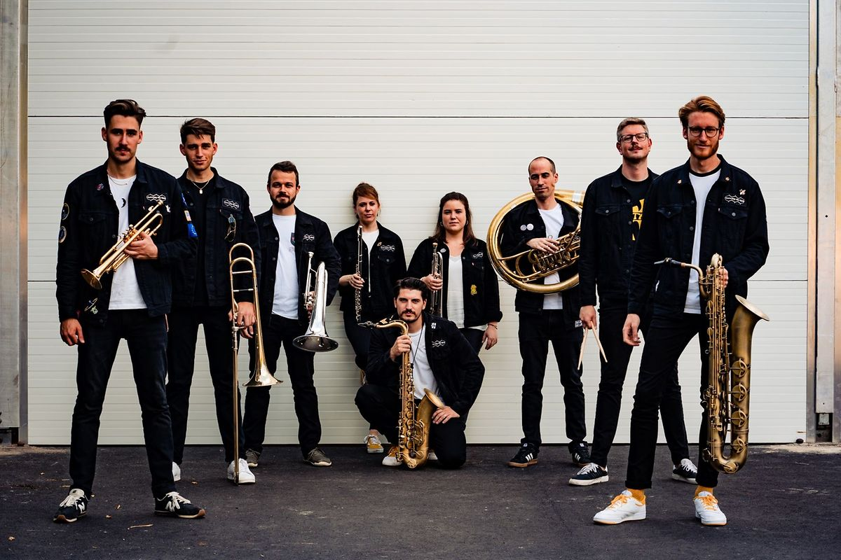 Nine-piece brass band Hunneg-Strëpp hope to get people dancing to hip-hop, rock and 90s classics