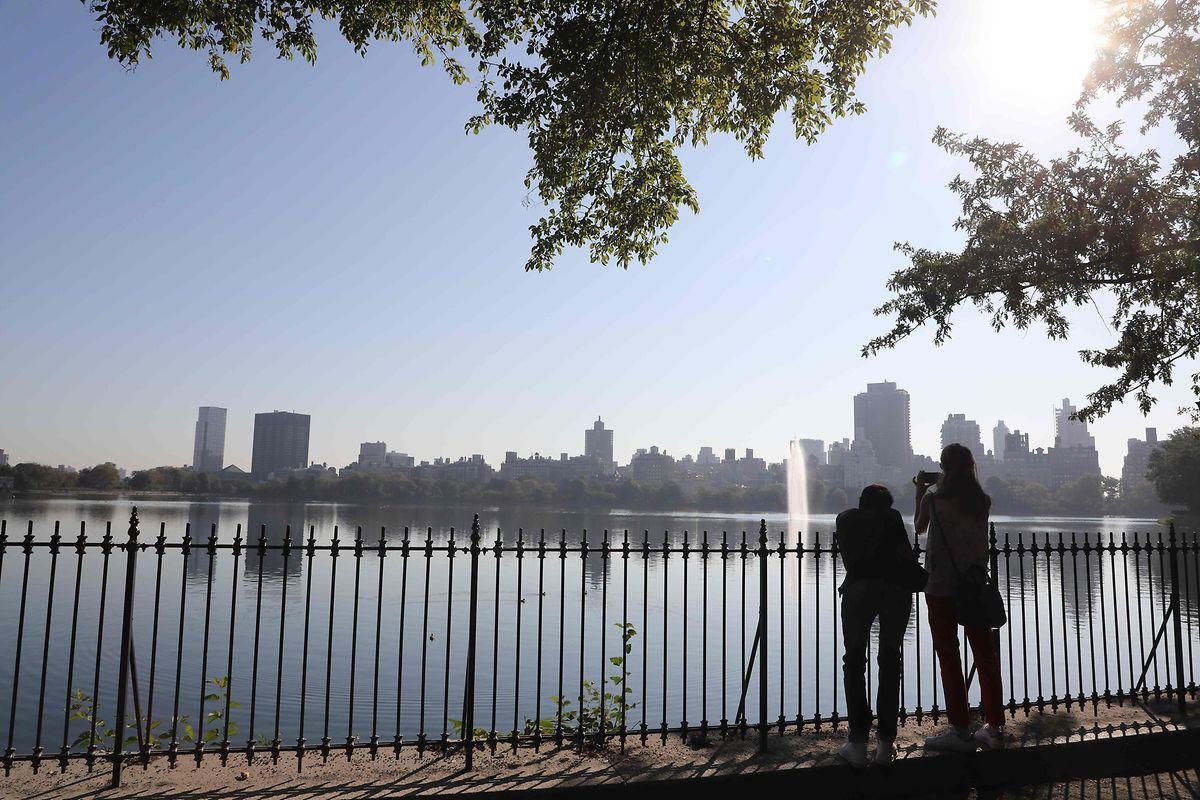 Blick auf die Skayline von Manhattan, wo der Gipfel tagt.
