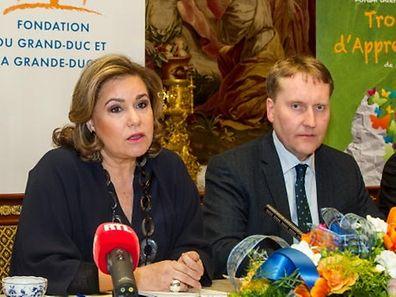 """Guy Schmit, hier im Bild mit Großherzogin Maria Teresa, verlässt laut Medienberichten seinen Posten als Direktor der """"Fondation du Grand-Duc et de la Grande-Duchesse""""."""