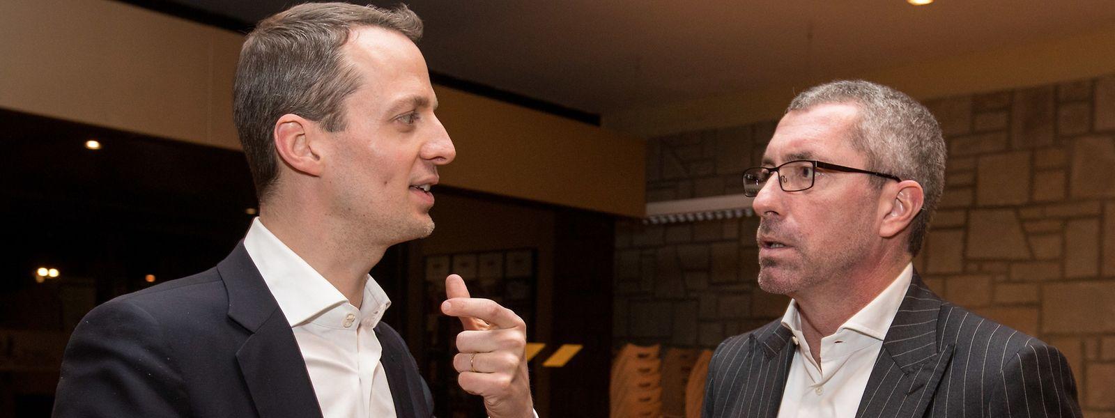 Zwei Kandidaten, ein Ziel: Serge Wilmes (l.) und Frank Engel (r.) wollen CSV-Parteipräsident werden. Eine Kampfabstimmung hat bei der CSV Seltenheitswert.