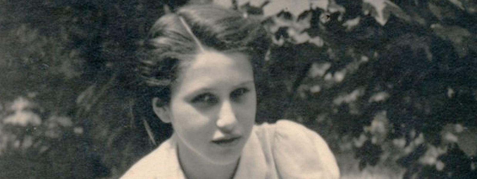 Inge Berger, geborene Katz, als Jugendliche im Jahr 1939 in Berlin.
