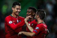 Cristiano Ronaldo, Nelson Semedo et Bernardo Silva (de g. à dr.) entendent jouer un mauvais tour au Luxembourg ce 17 novembre au Josy-Barthel