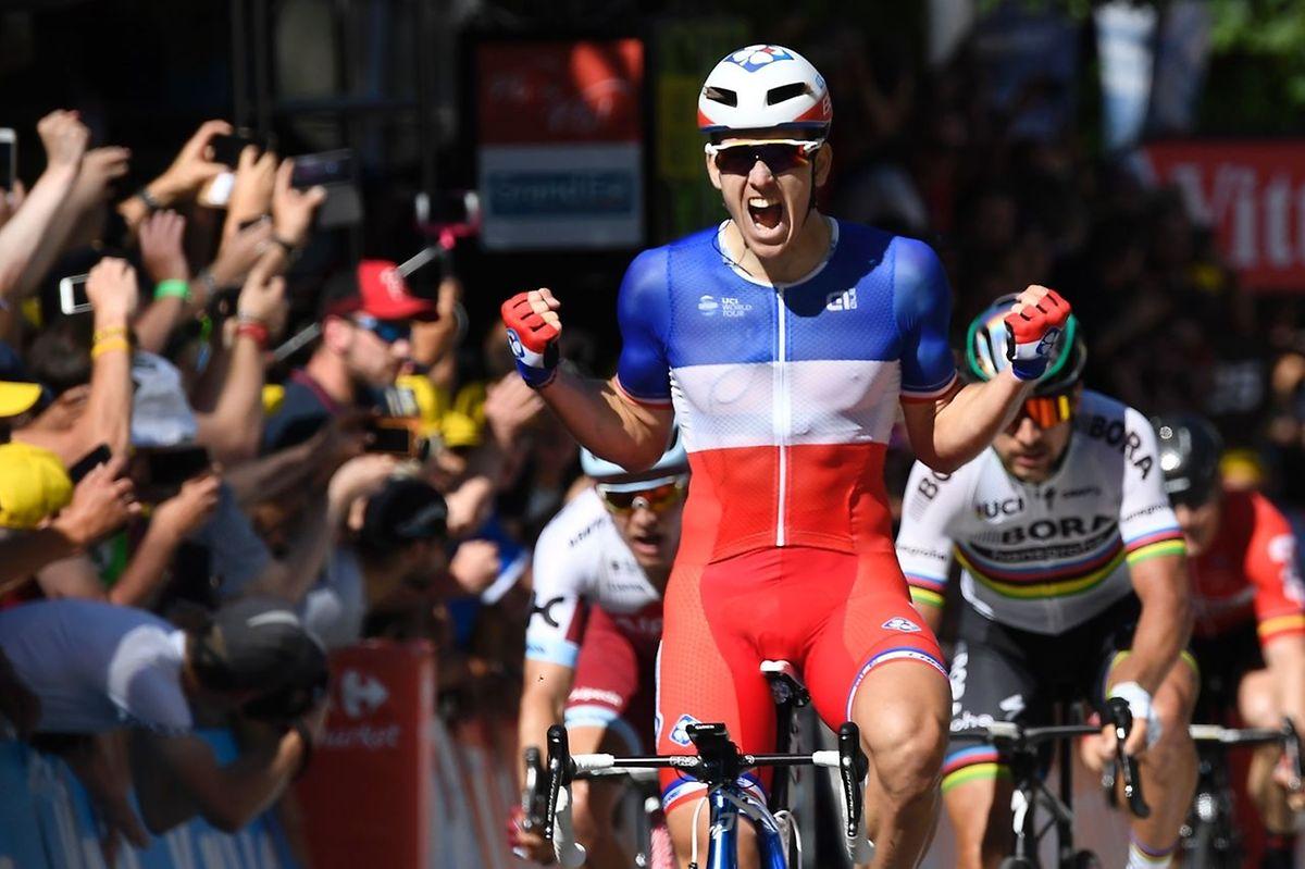 """O francês Arnaud Demare vencedor da 4° etapa do """"Tour"""""""