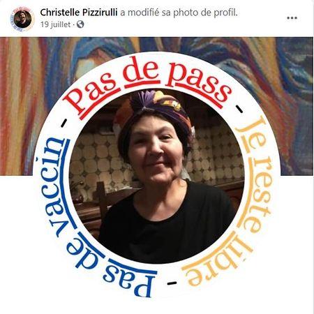 L'opposition aux mesures sanitaires s'est trouvée une figure en la personne de Christelle Pizzirulli.