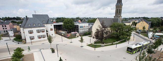 """Der """"Shared Space""""  ist das Vorzeigeprojekt der Gemeinde Bartringen."""