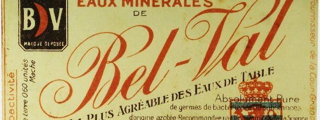 """""""La plus agréable des eaux de table"""". Nichts weniger versprach die Compagnie des eaux minérales de Bel-Val."""