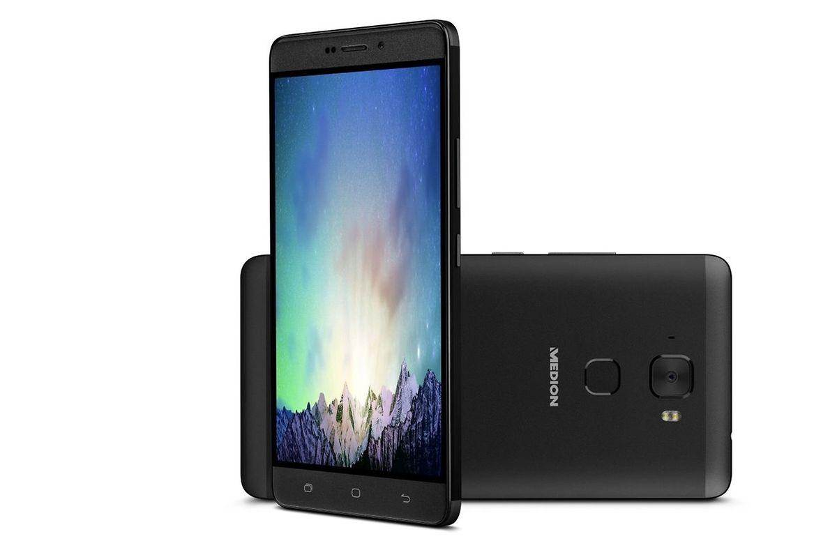 Medions Android-Smartphone X5520 gleicht vom Design her Modellen des Konkurrenten Huawei. Es ist ab dem vierten Quartal 2016 für rund 300 Euro erhältlich.