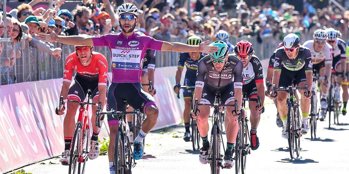 Fernando Gaviria hat seinen vierten Etappensieg gefeiert.