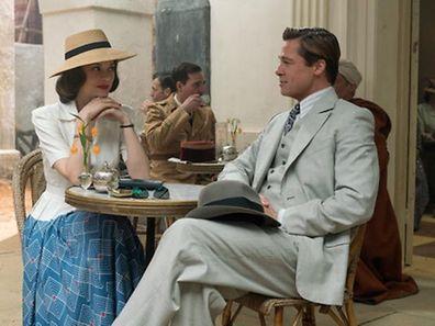 Brad Pitt e Marion Cotillard foram tomar chá a Marrocos.