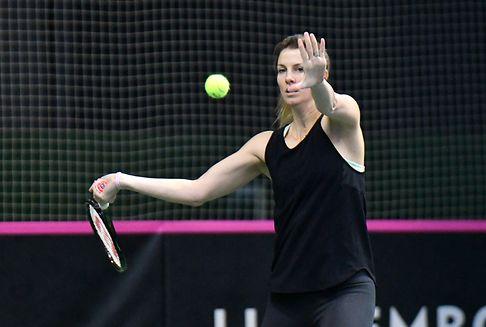 Tennisspielerin Mandy Minella feiert Comeback