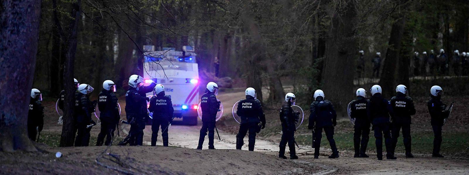 Auch am Donnerstag eskalierte die Gewalt im Bois de la Cambre.