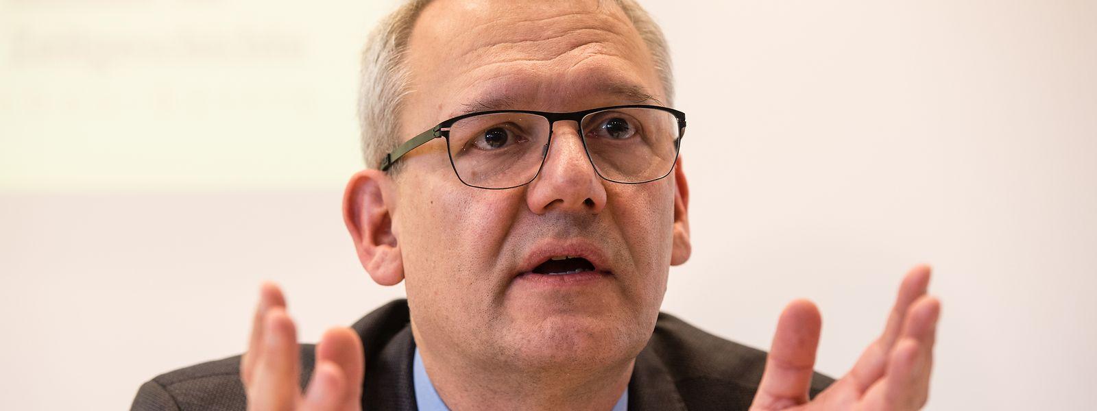 Andreas Wirsching, Leiter des Instituts für Zeitgeschichte, spricht während einer Pressekonferenz.