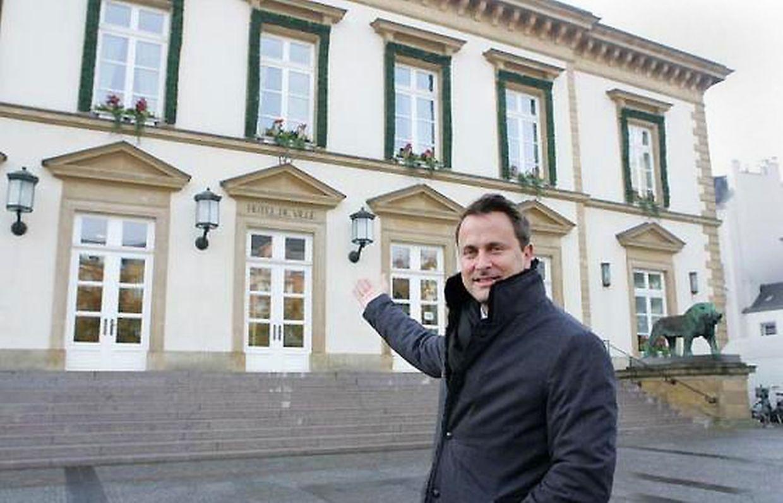 24.11.2011 Am Tag seiner Vereidigung wurde Xavier Bettel den ganzen Tag über von einer LW-Journalistin begleitet.