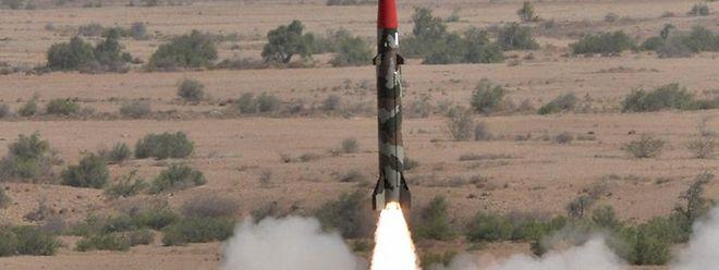 Raketentest in Pakistan: Indien und Pakistan sind nach Sipri-Angaben dabei, neue Trägersysteme für Atomsprengköpfe zu entwickeln.