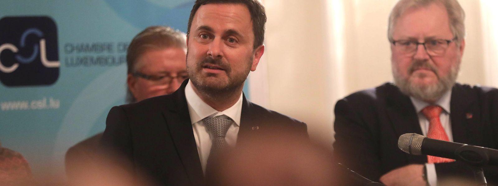CSL-Präsident Jean-Claude Reding (r.) und Premierminister Xavier Bettel (Mitte) gingen in ihren Ansprachen auf die Digitalisierung und die Notwendigkeit neuer Arbeitszeitmodelle ein.