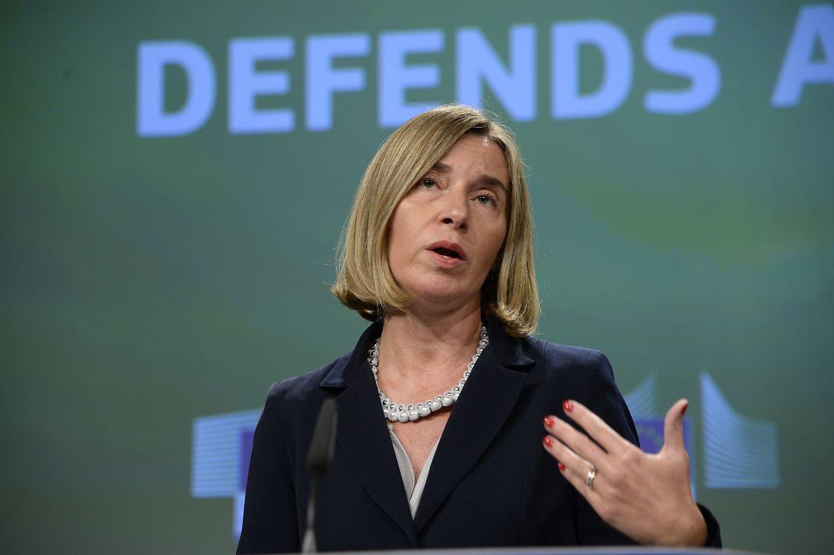 Federica Mogherini, vice-presidente da Comissão Europeia e Alta Representante da UE para Relações Externas e Política de Segurança.
