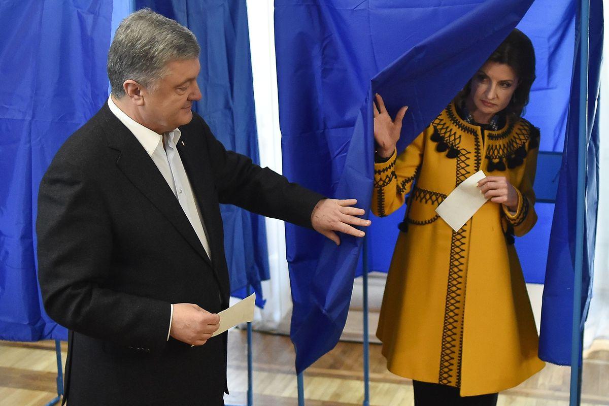 Kandidat Petro Poroshenko hat gewählt.