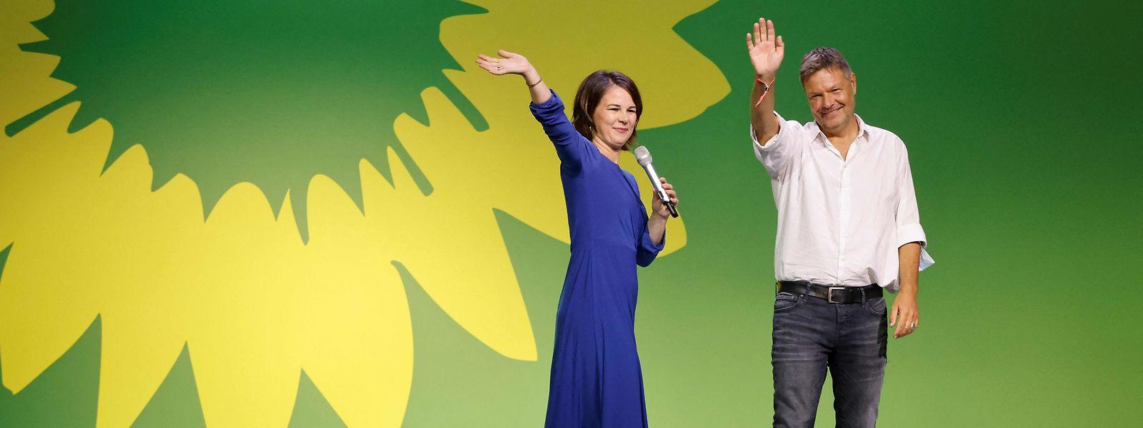 Kanzlerkandidatin Annalena Baerbock und der Co-Vorsitzende Robert Habeck: Es war mehr drin.
