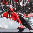 Team Sunweb rider Netherlands' Tom Dumoulin (2nd L) enters a car after abandoning the race during stage five of the 102nd Giro d'Italia - Tour of Italy - cycle race, 140kms from Frascati to Terracina on May 15, 2019. (Photo by Luk BENIES / AFP)