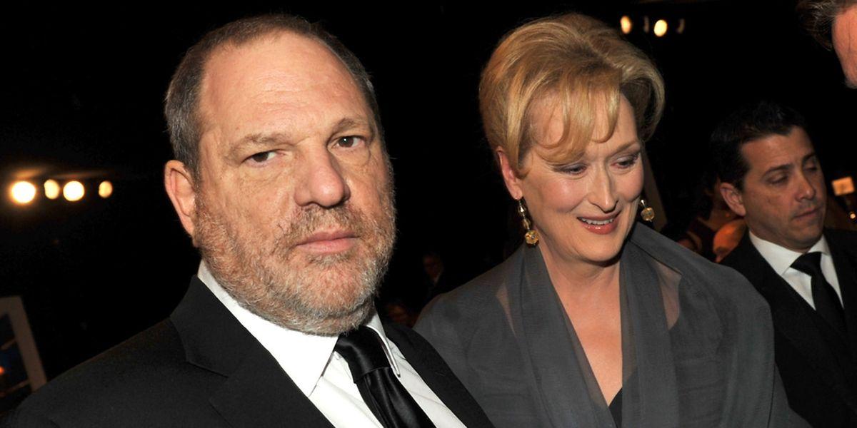 Harvey Weinstein avec Meryl Streep en 2012