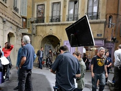 "Picture taken on September 27, 2012 in Marseille on a set of ""La Belle de Mai"" studio complex during the shooting of French TV show ""Plus belle la vie"".   AFP PHOTO/GERARD JULIEN"
