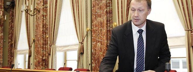 Der ehemalige Geheimdienstchef Marco Mille im Januar 2013 vor dem Geheimdienst-Untersuchungsausschuss in der Abgeordnetenkammer.