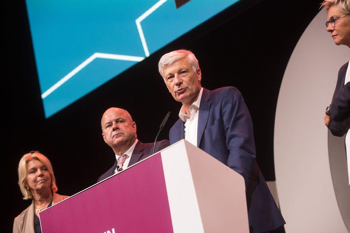 CSV-Spitzenkandidat Claude Wiseler ist enttäuscht, gibt aber die Hoffnung auf eine Regierungsbeteiligung nicht so schnell auf.