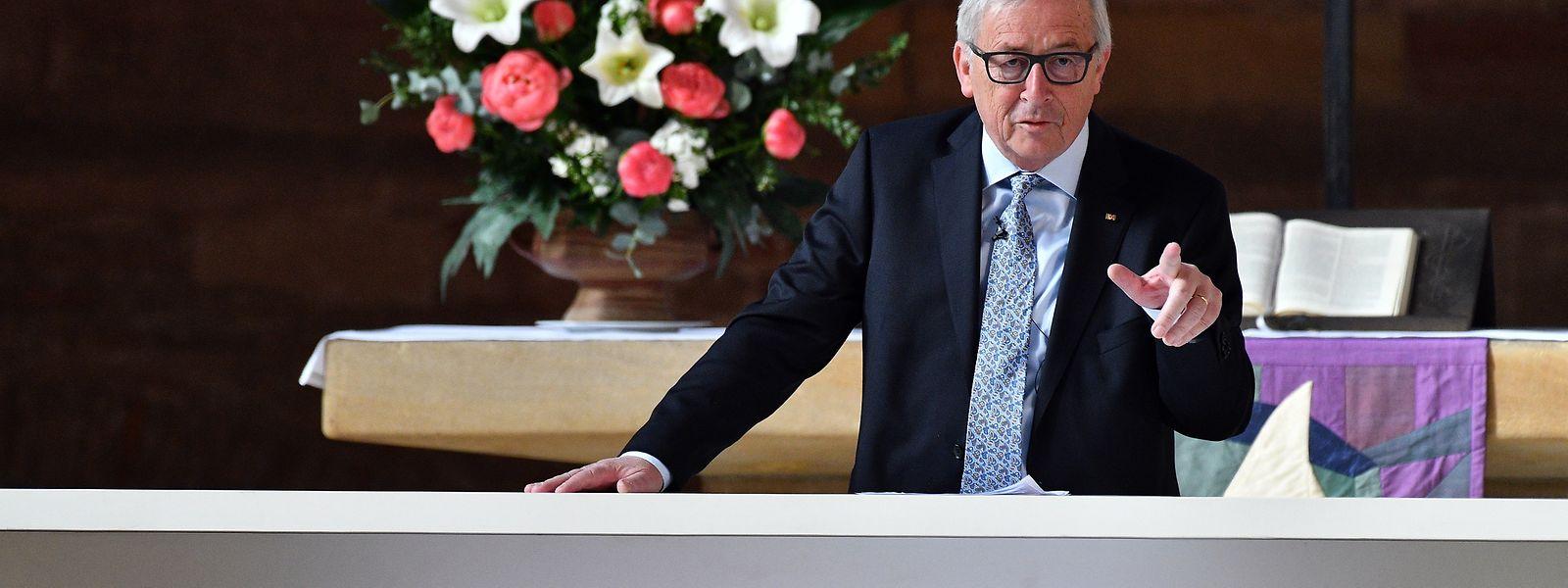 """Juncker: """"Die Verbrechen an Millionen von Menschen, die im 20. Jahrhundert in seinem Namen begangen wurden, können ihm nicht angelastet werden."""""""