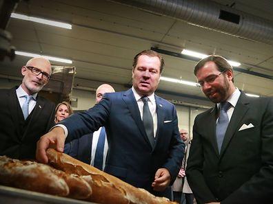 18.01.2017 Luxembourg, Strassen,Fabrique de fours HEIN, visite du grand-duc héritier Guillaume photo Anouk Antony