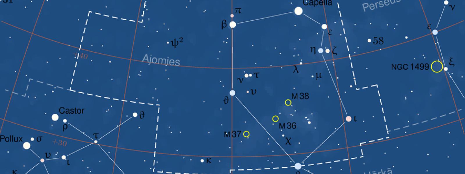 Das Sternbild Fuhrmann (Auriga).