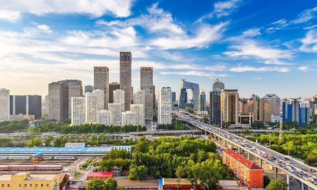 Beijing financial district, China