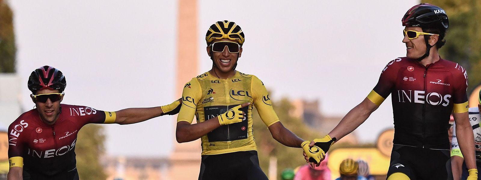 Egan Bernal restera à jamais le premier Colombien à inscrire son nom au palmarès du Tour de France.